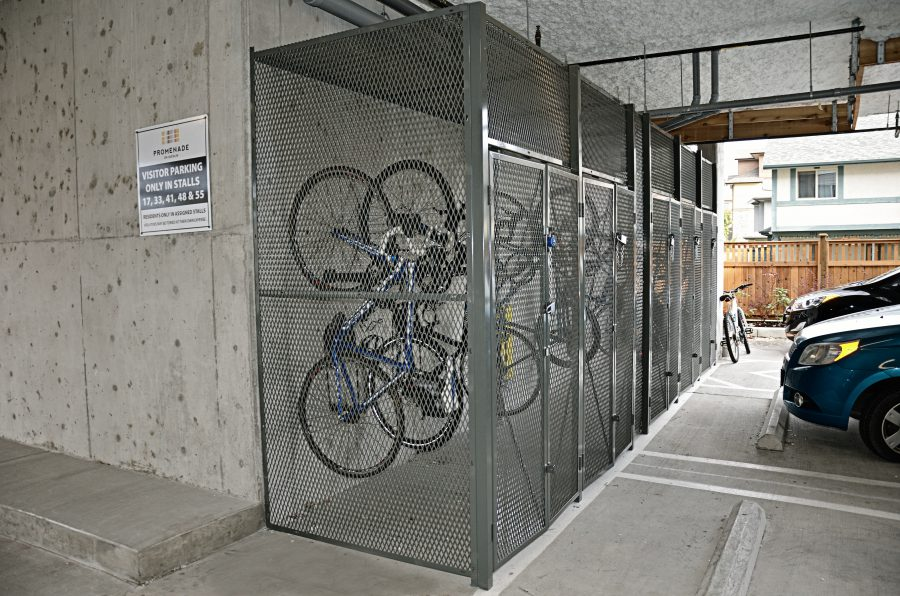 Secure bike storage - exterior